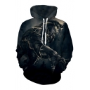 Hot Sale Panther Printed Long Sleeve Leisure Oversize Hoodie