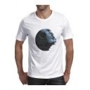 Earth in Ruins Printed Round Neck Short Sleeve Tee