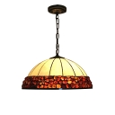 Vintage Simple Dome Shaped Shade 2-Light Hanging Lamp with 16