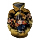 Unique Cartoon Character Printed Long Sleeve Oversize Hoodie with Pocket