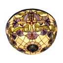 Foyer Lamp Tiffany Flush Mount Ceiling Light with 16