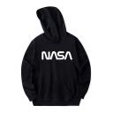 NASA Letter Printed Long Sleeve Hoodie