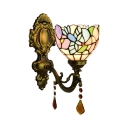 Metal Lamp Backplate Tiffany Loft Wall Sconce with 6