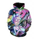 New Arrival Cartoon Character Printed Leisure Oversize Long Sleeve Hoodie