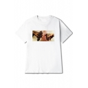 Hot Pop Fashion Short Sleeves Cash Money Hand Print Round Neck Summer Tee