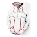 Cool Design Fashion Print Long Sleeves Pullover Hoodie with Pocket