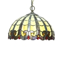 Tiffany Style Victorian Downward Pendant Light with 12