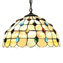 Sunflower Pattern Hanging Lamp with Tiffany Vintage 8