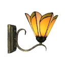 Tiffany Vintage Leaf Pattern Glass Shade 6