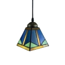 Pyramid Shaped Shade Ceiling Fixture, 5