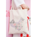 Trendy Style Chinese Map Print Simple Daily Fashion Tote Bag