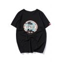VINTAGE Letter Shoe Print Graphic Pattern Round Neck Short Sleeves Tee