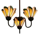 Daffodil Floral Design Indoor Inverted Ceiling Chandelier with 3 Light