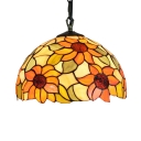 Sunflower Theme Ceiling Pendant with 12