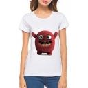 New Trendy Digital Lovely Cartoon Monster Printed Round Neck Short Sleeve Tee