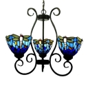 Blue Glass Shade Dragongfly Pattern 24