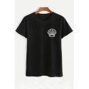 Simple Shell Printed Round Neck Short Sleeve Comfort Tee