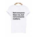 New Arrival Simple Letter Printed Round Neck Unisex Short Sleeve Tee
