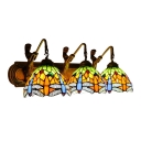 Multi-colors Dragonfly 3 Head Mermaid Lampbase Wall Lamp, 26