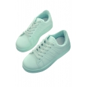 Stylish Plain Lace-up Fastening Outdoor Sports Gym Shoes Sneakers
