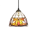 Baroque Hanging Pendant, Bell Shaped Shade, 8