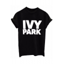 IVY PARK Letter Printed Short Sleeve Casual Tee