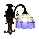 Indoor Simply Tiffany Style Wall Sconce with Colorful Glass Shade, 8