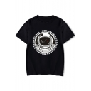 FASHION IN ORIGINAL Letter Astronaut Print Short Sleeve Tee