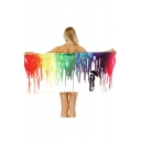 Colorful Splash Ink Printed Bath Towel