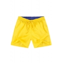 Top Rated Mens Yellow Quick Dry Solid New Trunks Swimwear with Pockets and Liner