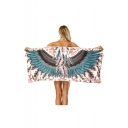 Feather Wing Printed Beach Bath Towel