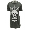 Skull Letter Pentagram Printed Round Neck Short Sleeve Mini T-Shirt Dress