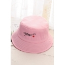Girl's AMOR Letter Embroidered Bucket Hat
