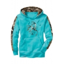 Digital Color Block Printed Long Sleeve Hoodie