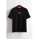 SHAVE Letter Printed Round Neck Short Sleeve Tee