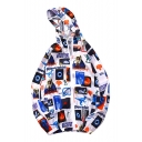 Letter Character Dinosaur Printed Long Sleeve Zip Up Hooded Sun Proof Coat