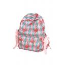 e2f02eff247b56 USD$26.65; Flamingo Striped Printed Zippered Backpack School Bag