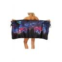 Galaxy Forest Printed Bath Towel