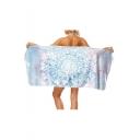 Folk Style Printed Bath Towel