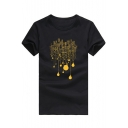 Building Bulb Printed Round Neck Short Sleeve Tee
