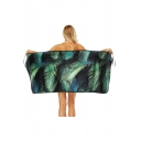 Palm Leaves Printed Soft Bath Towel