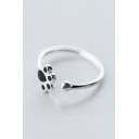 Cute Diamond Paw Pattern Resizable Ring