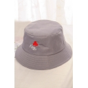 KING Letter Pattern Embroidered Summer Bucket Hat
