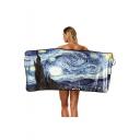 Digital Painting Printed Bath Towel