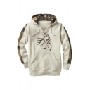 Fashion Color Block Printed Long Sleeve Hoodie