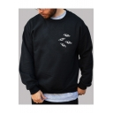 UFO Printed Round Neck Long Sleeve Sweatshirt