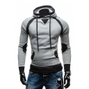 Men's Color Block Long Sleeve Slim Hoodie