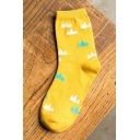 Women's Cute Cotton Socks Funny Casual Mountain Printed Novelty Art Ankle Sox