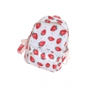 396e6795f1bfb8 USD$27.12; Lovely Strawberry Printed Zippered Backpack School Bag