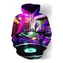 Digital DJ Hand Printed Long Sleeve Hoodie
